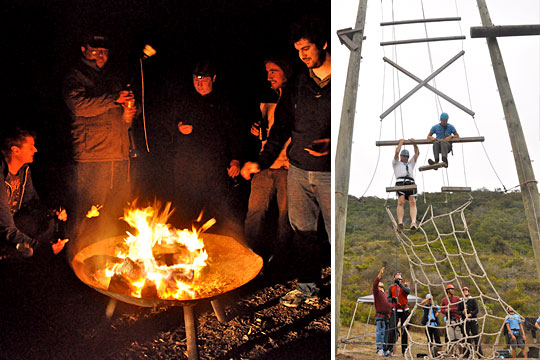 AppFolio's 2010 Development Team Retreat - Campfire and Ropes Course