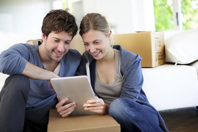 Residents using iPad