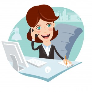 Happy Office Woman